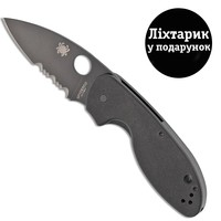 Фото Нож Spyderco Efficent Black Blade полусеррейтор C216GPSBBK